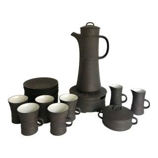 1960s Dansk Jens H. Quistgaard Jhq Flamestone Coffee Tea Service - 25 Piece Set For Sale