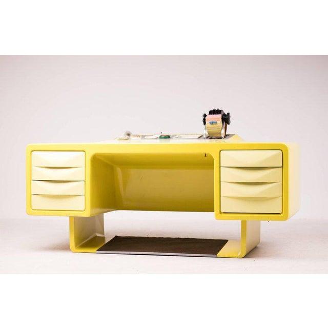 Ernest Igl Design Fiberglass Directors Desk by Wilhelm Werndl For Sale - Image 10 of 10