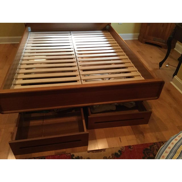 Teak Queen Bed Frame - Image 7 of 11