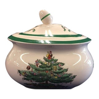 "Spode England ""Christmas Tree"" Sugar Bowl With Lid For Sale"