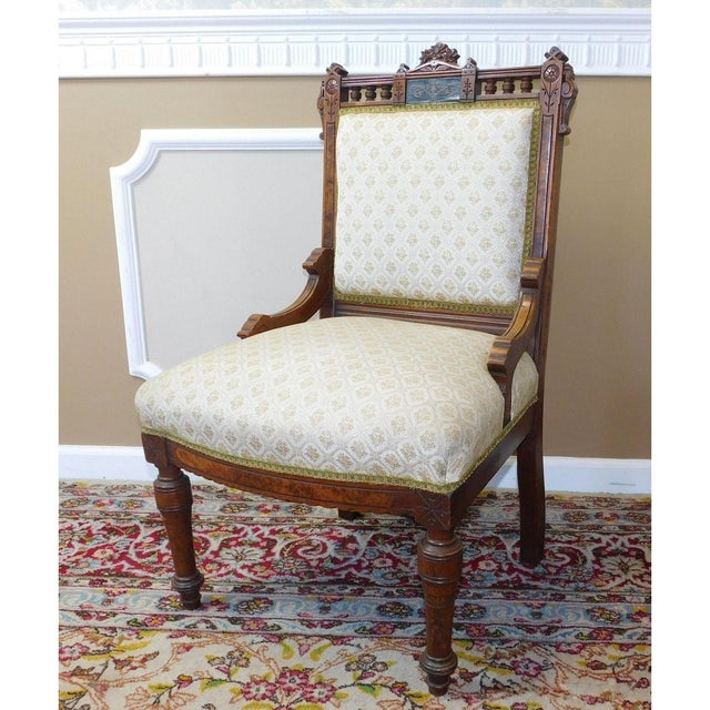 His & Her Victorian Renaissance Chairs - Pair - Image 10 of 11