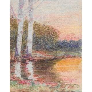 1920s Summer Landscape Drawing Benjamin Harnett For Sale