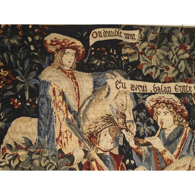 Medieval Style Tapestry from France, 20th Century For Sale In Dallas - Image 6 of 12