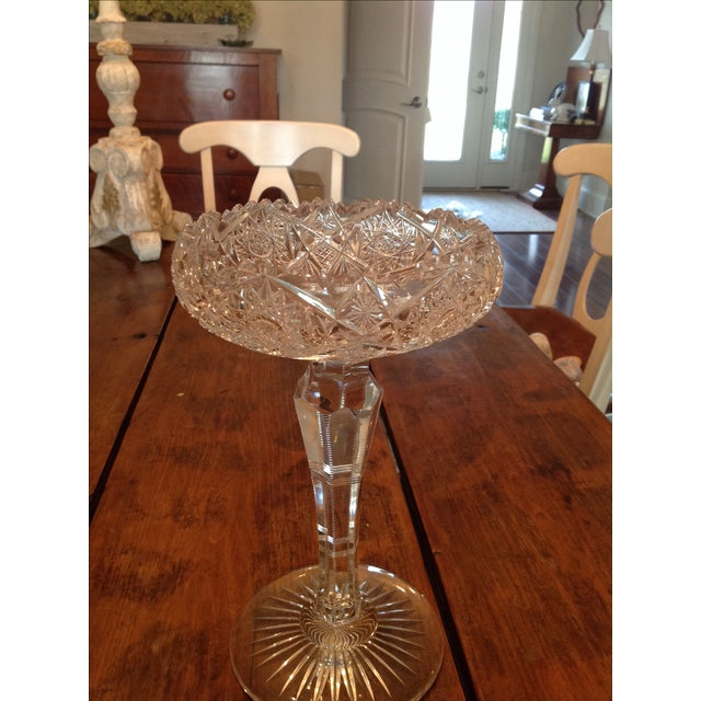 American Brilliant Cut Glass Compote - Image 3 of 6