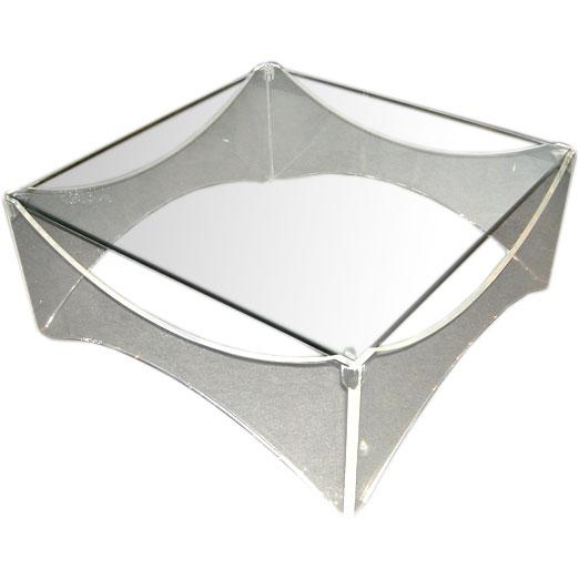 Lucite and Glass Coffee Table - Image 1 of 5