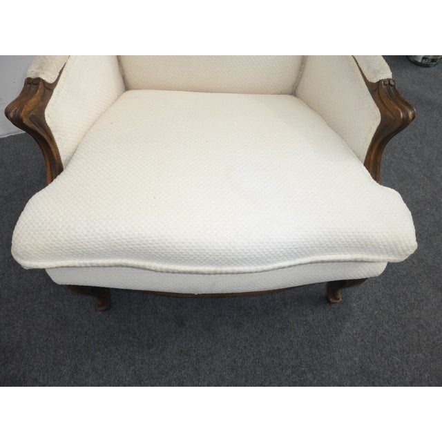 Vintage French Provincial White Arm Chair - Image 6 of 10