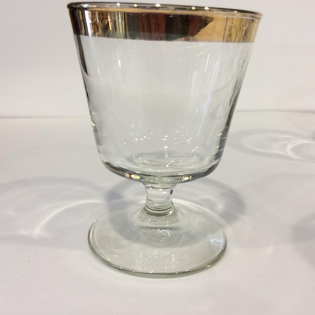 Mid-Century Gold Rim Rocks Cocktail Glasses - Set of 12 - Image 3 of 11