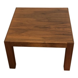 Mid 20th Century Small Wooden Side Table For Sale