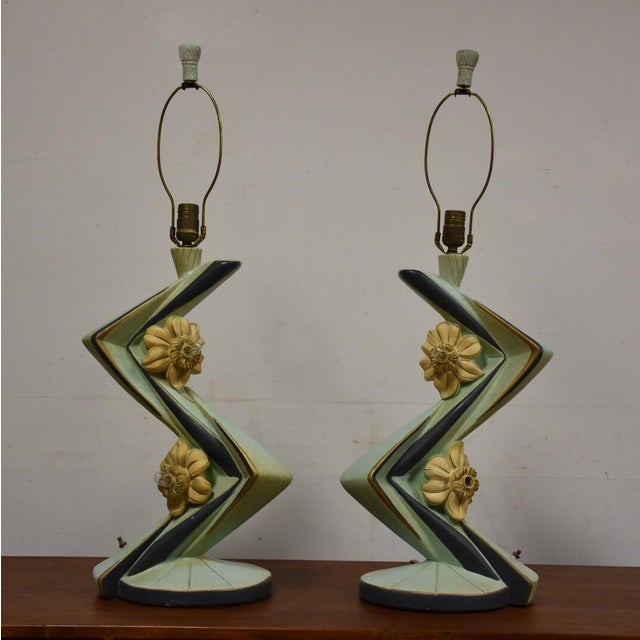 Mid-Century Table Lamps - A Pair - Image 3 of 11