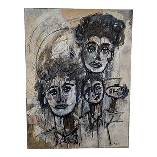 Joe Adams Face Abstract Art For Sale