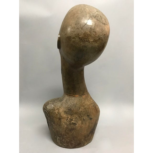 Contemporary Vintage Carved Wood Mannequin For Sale - Image 3 of 9