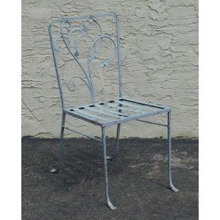 Salterini Vintage Art Nouveau Wrought Iron Garden Chair Preview