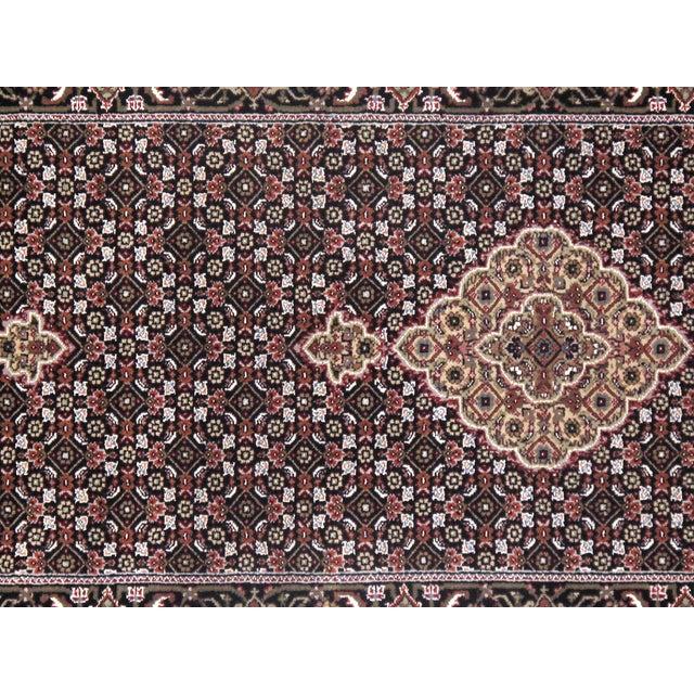 "Pasargad NY Indian Tabriz Mahi Design Silk & Wool Rug - 2'6"" X 10'2"" For Sale - Image 4 of 5"