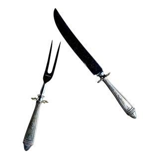 Sterling Fork & Knife Serving Set For Sale