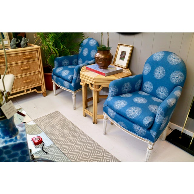 1960s Pair of Blue French Chairs For Sale - Image 5 of 8