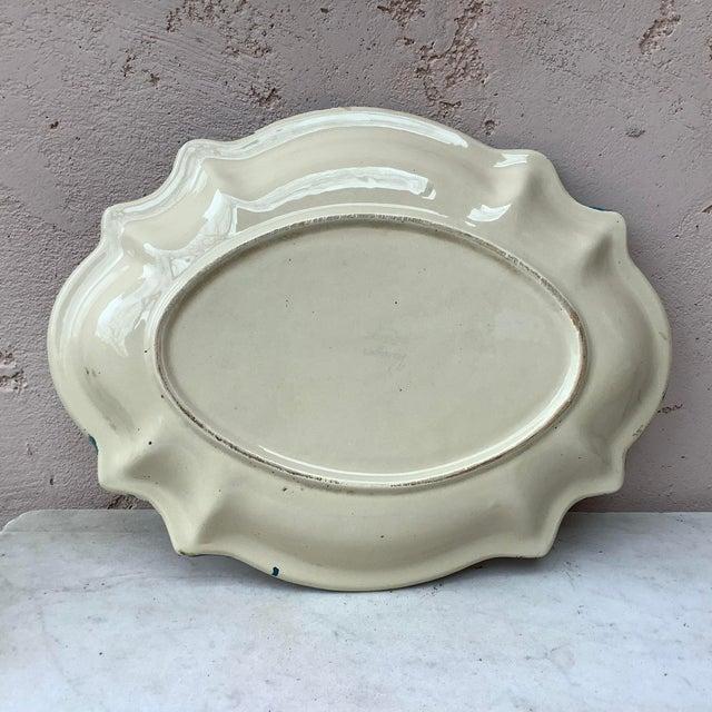 Ceramic 1930 Majolica Trompe l'Oeil Eggs Platter For Sale - Image 7 of 8