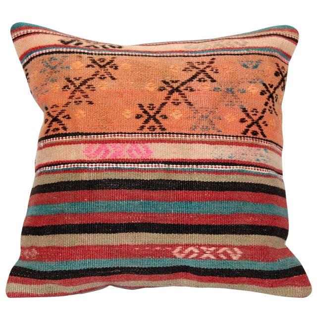 Turkish Handmade Kilim Pillow Cover - Image 1 of 8
