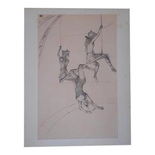 Vintage Toulouse Lautrec Lithograph-The Circus