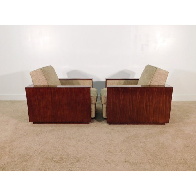 Wood Henredon Ralph Lauren Rosewood Metropolis Collection Club Tub Deck Chairs- A Pair For Sale - Image 7 of 13