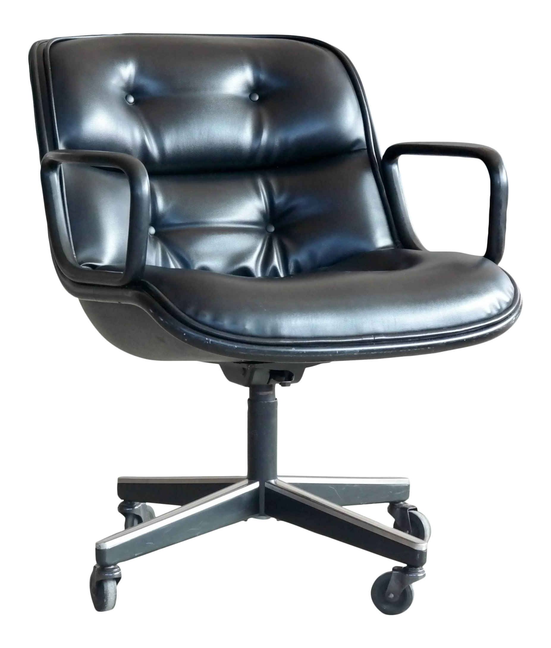 Charles Pollock Executive Chair For Knoll International In Black Leather    Image 1 Of 7