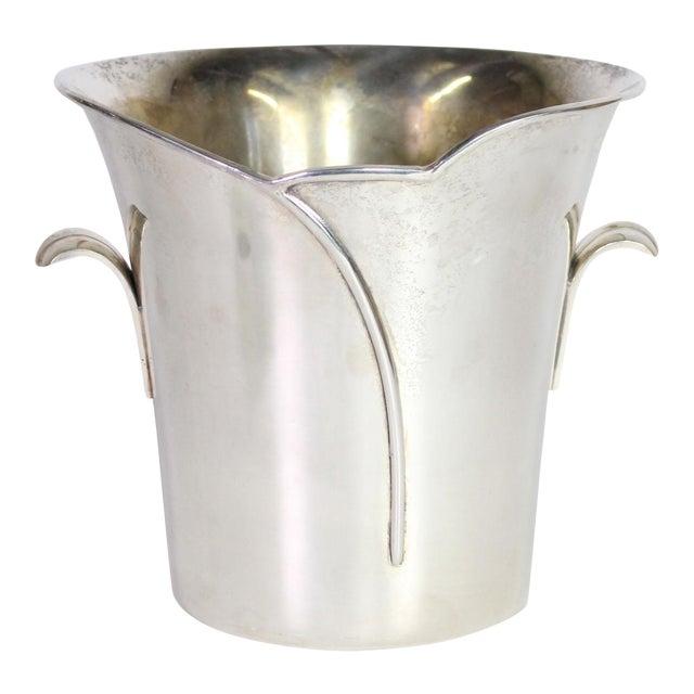 1980s Post Art Nouveau Godinger Silver Plated Ice Bucket For Sale