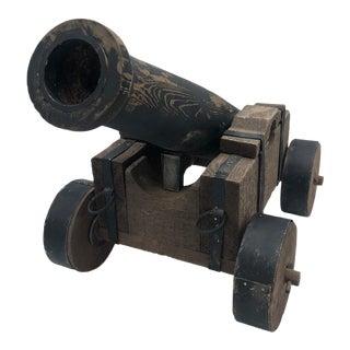 Vintage Model Wood Cannon For Sale