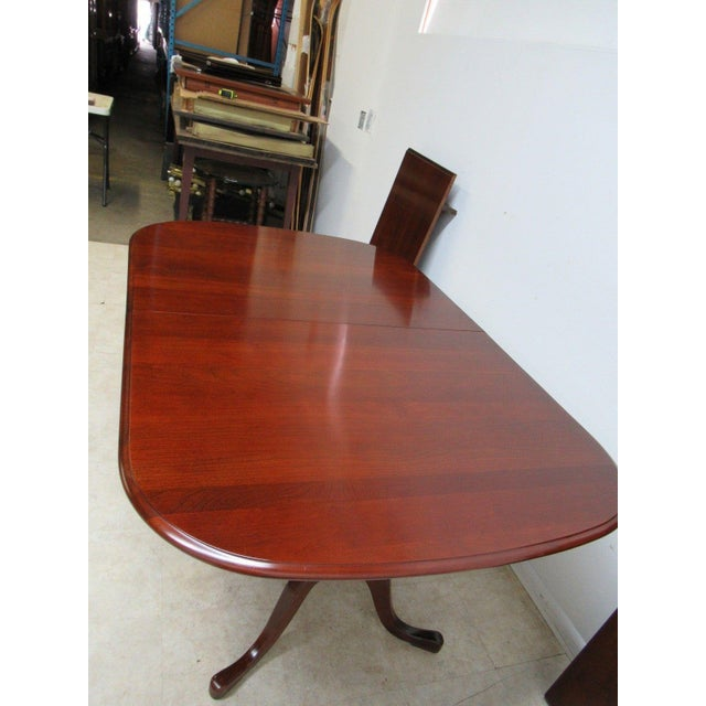 Pennsylvania House Cherry Pedestal Dining Room Conference Table - Conference table with leaves