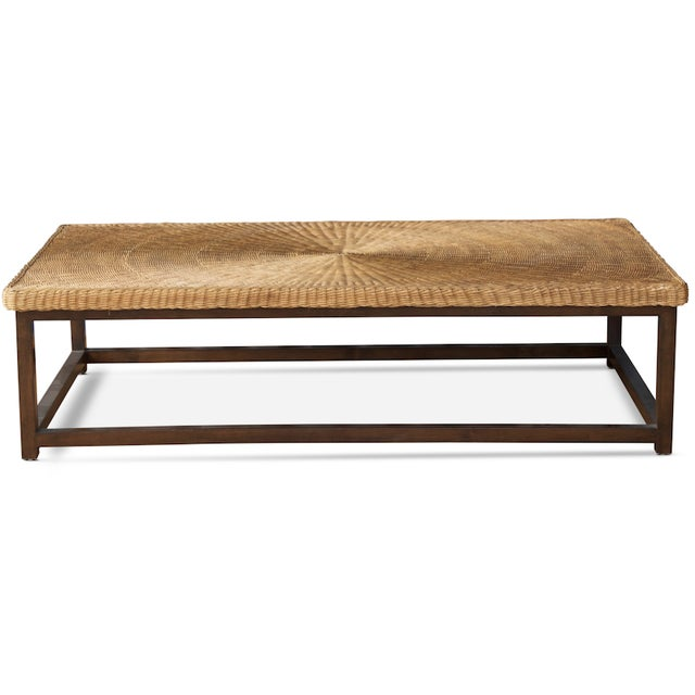 The Portofino Coffee Table is hand-crafted in Los Angeles from solid hardwood and a handwoven wicker top. Its simple shape...