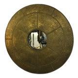 Image of Sarreid Hammered Brass Mirror For Sale