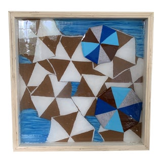 Original Geometric Multimedia Painting Unsigned For Sale