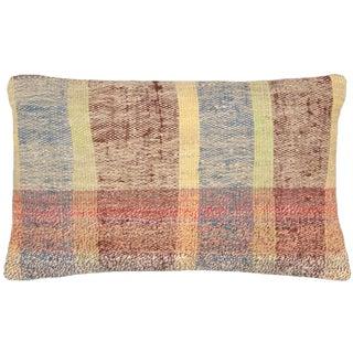 "Nalbandian - Turkish Adana Rag Rug Pillow, 12"" X 20"" For Sale"