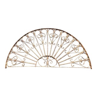 Antique Demi-Lune Shaped Structural Wrought Iron For Sale