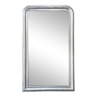 Antique French Silvered Mirror, 19th Century Louis Philippe Period For Sale