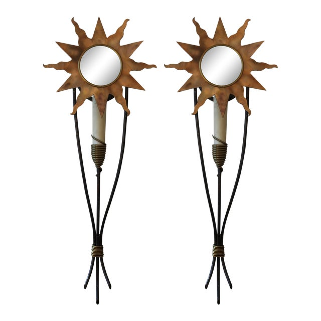 Orion Wall Sconces - a Pair For Sale