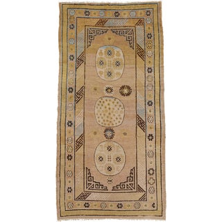 """Early 20th Century Khotan Rug- 3'11"""" X 7'10"""" For Sale"""