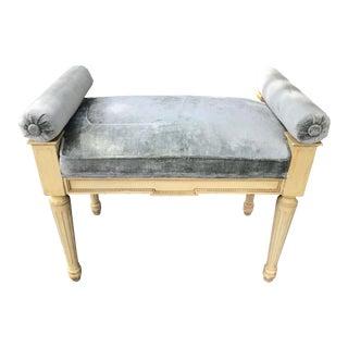 Mid Century Vintage Louis XVI Style Bench For Sale