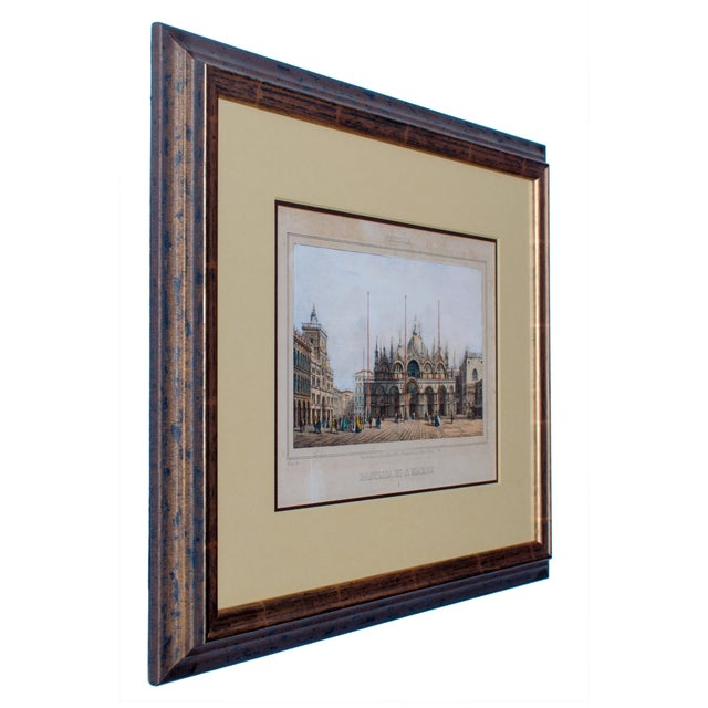Illustration Basilica Di San Marco Antique Engraving For Sale - Image 3 of 5