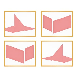 "XL ""Compositions in Pink, Set of 4"" Print by Jason Trotter, 60"" X 48"" For Sale"