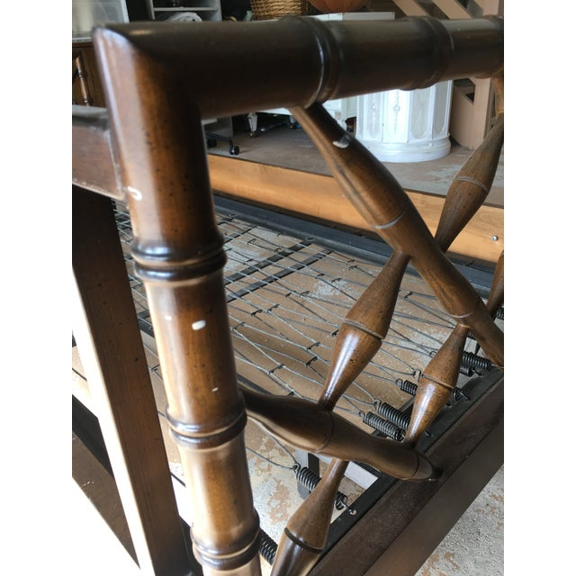 1970s Boho Chic Rollout Faux Bamboo Twin Trundle Bedframe For Sale - Image 9 of 13