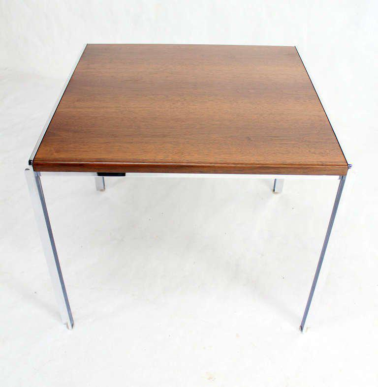 Mid Century Modern Stow Davis Walnut And Chrome Coffee Table For Sale    Image 10