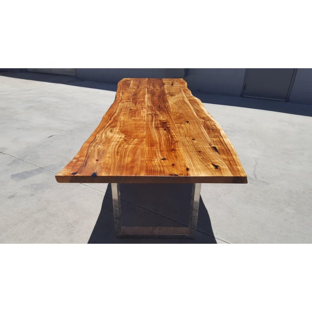 Acacia Wood Live Edge Dining Table - Image 6 of 8