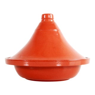 Moroccan Glazed Terra Cotta Tagine Cooking Vessel For Sale