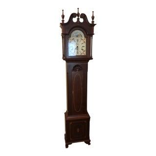 Custom Cherry Goddard Style Longcase Clock For Sale