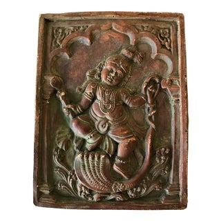 Hindu Diety Plaster Wall Plaque For Sale