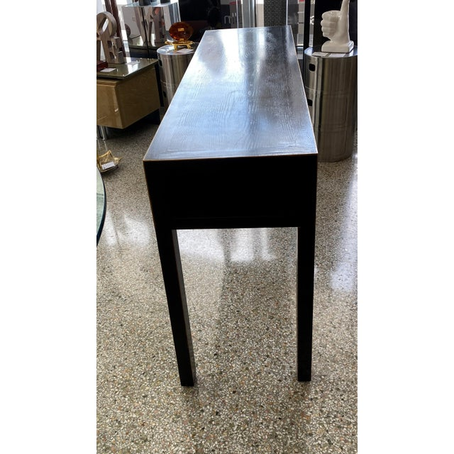 Ebonized Three-Drawer Console Table For Sale - Image 12 of 13