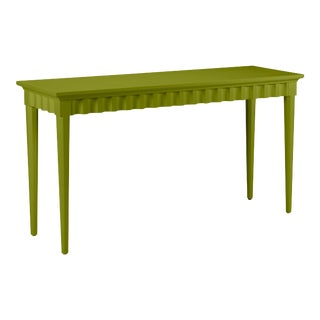 Casa Cosima Flutter Console, Dark Celery For Sale