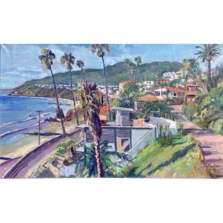 """Pacific Palisades, California"" Contemporary Landscape Oil Painting by Humbert Curcuru For Sale"