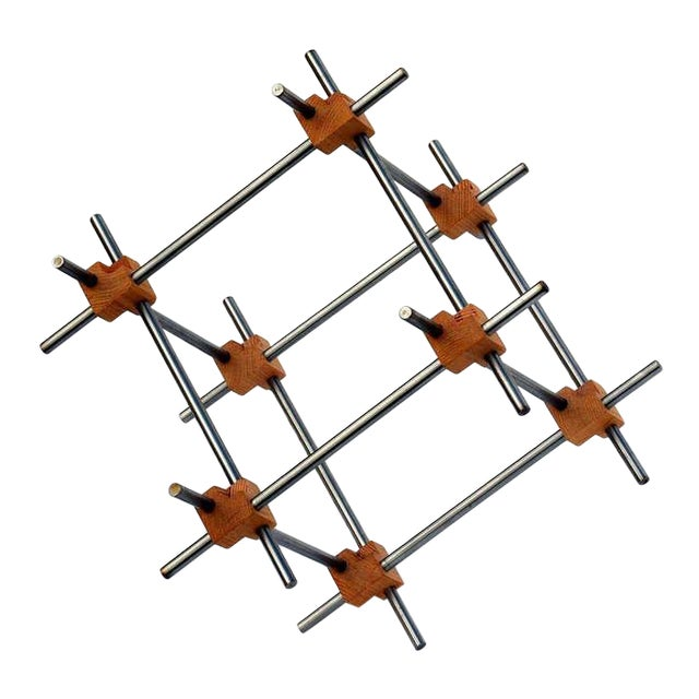 Geometric Abstract Sculpture by Alex Andre For Sale