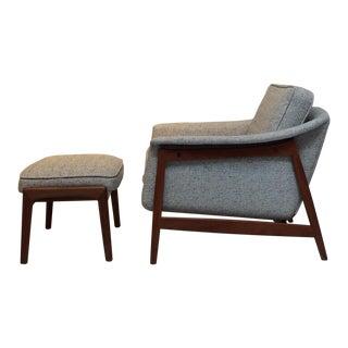Vintage Folke Ohlsson for Dux Club Chair & Ottoman