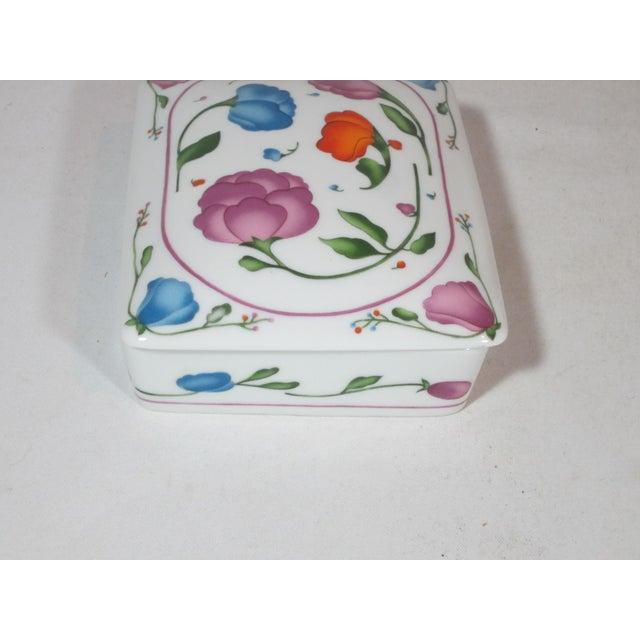 Art Nouveau Horchow Porcelain Card Box With Cards For Sale - Image 3 of 6
